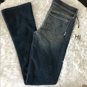 New MOTHER The Runaway Skinny Flare Jeans 26